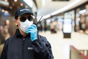 event security guard wearing mask